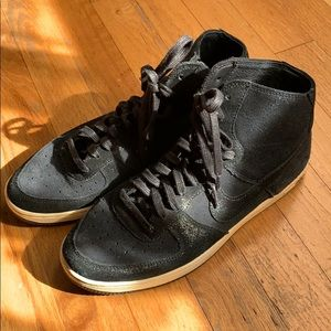 Nike Air High Tops. Black Suede. Size 8.5
